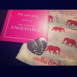 Stella & Dot engraved heart charm